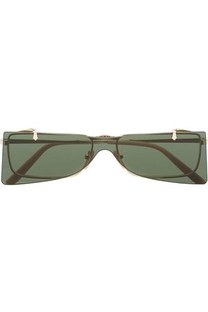 Gucci Heren Zonnebrillen - Green and Gold Double Lens Sunglasses