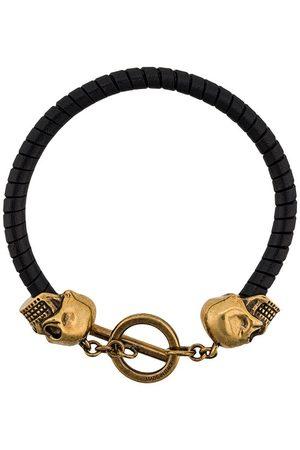 Alexander McQueen Heren Armbanden - Skull leather bracelet