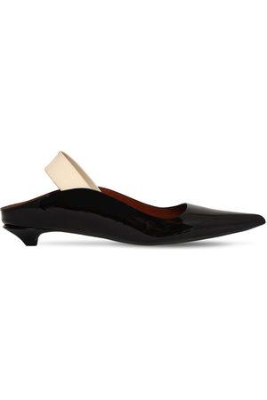Proenza Schouler 20mm Patent Leather Slingback Flats
