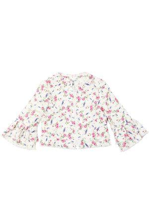 MONNALISA Rose Printed Tweed Jacket