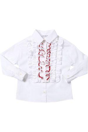 Dolce & Gabbana Stretch Cotton Blend Poplin Shirt