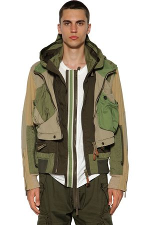 Dsquared2 Multi Pocket Cotton Twill Bomber Jacket