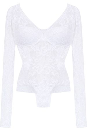 AMIR SLAMA Long sleeved lace bodysuit