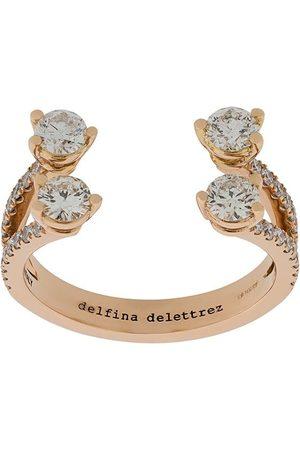 DELFINA DELETTREZ 18kt rose Dots Diamond pave ring