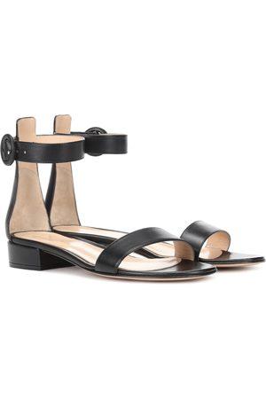 Gianvito Rossi Portofino 20 leather sandals