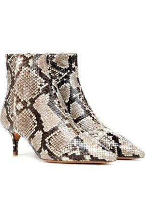ALEXANDRE BIRMAN Kittie 50 python ankle boots