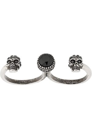 Alexander McQueen Skull double finger ring