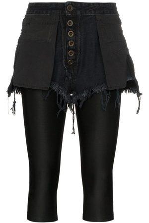 Unravel Project Reverse short stretch cotton leggings