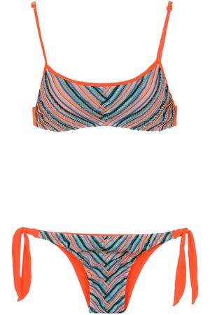 AMIR SLAMA Printed bikini top