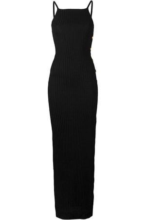 Balmain Knit side slit dress