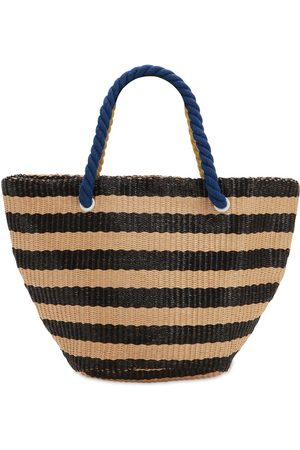 Once Striped Woven Tote Bag