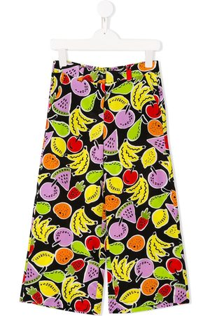 Stella McCartney Fruits print wide-legged trousers