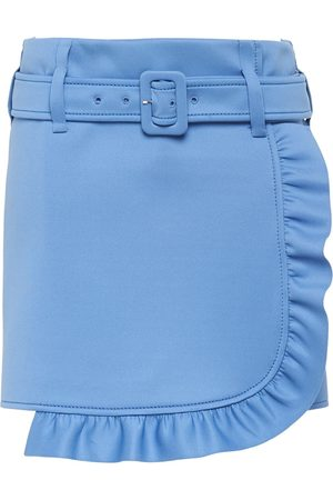 Prada Belted ruffle mini skirt