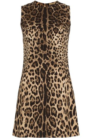 Dolce & Gabbana Leopard print classic shift mini dress