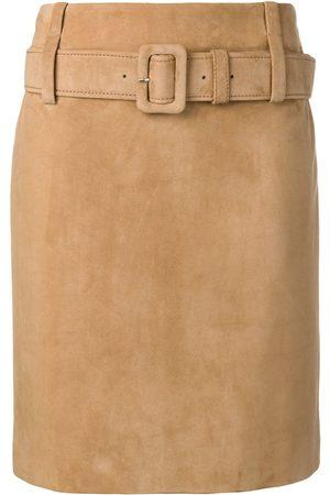 Prada Leather straight skirt