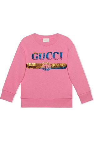 Gucci Children's sweatshirt with sequin Gucci logo