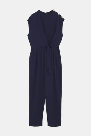 Zara JUMPSUIT WITH TIE AND BUTTONS