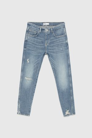 Zara SKINNY DENIM RAW EDGE