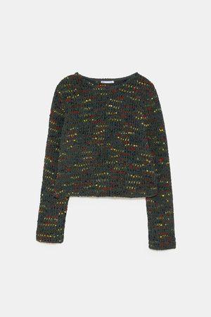 Kleurrijke chenille trui