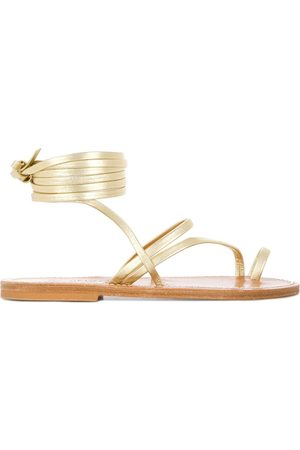 K jacques Ankle fastened flat sole summer sandals