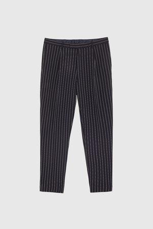 Zara Gestreepte broek met overslag