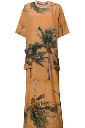 Natasha Zinko Palm tree print maxi dress