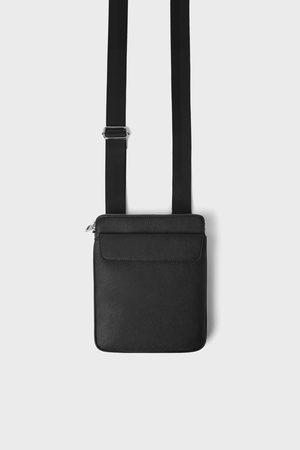 Zara Zwarte schoudertas met flap