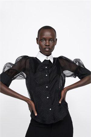 Zara Combi-blouse met stippenprint