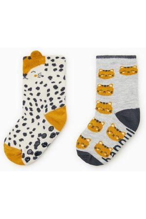 Zara Set van twee sokken met tijger