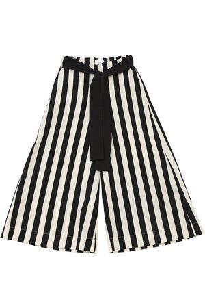 Unlabel Striped Cotton & Linen Blend Pants