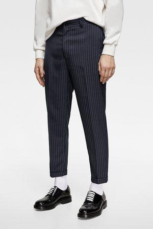 Zara Coolmax® pinstripe suit trousers