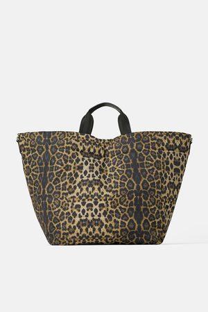 Zara Gewatteerde shopper met dierenprint