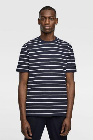 Zara Heren T-shirts - Basic t-shirt met strepen