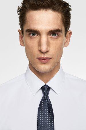 Zara Brede stropdas met microprint