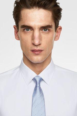 Zara Brede stropdas met argyle dessin