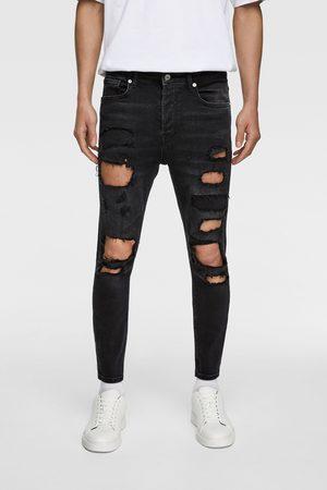 Zara Heren Geklede broeken - Skinny jeans met scheuren