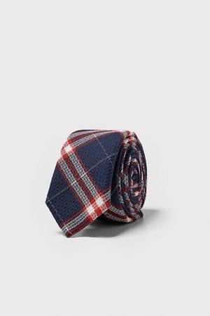Zara Heren Stropdassen - Smalle geruite stropdas