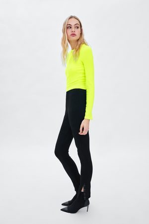 Zara CROPPED T-SHIRT MET ZACHTE TOUCH