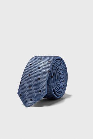 Zara Smalle jacquard stropdas met stippen