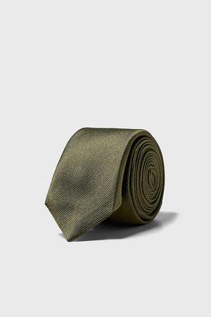 Zara Smalle stropdas met structuur