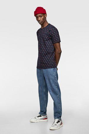 Zara T-shirt met stippenprint