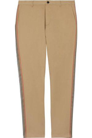 Burberry Heren Chino's - Slim Fit Icon Stripe Detail Cotton Chinos