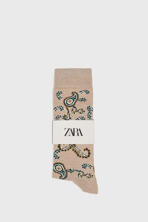 Zara Gemerceriseerde sokken met paisleymotief