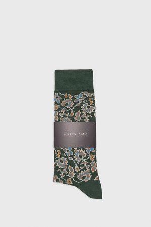 Zara Gemerceriseerde sokken met bloemen