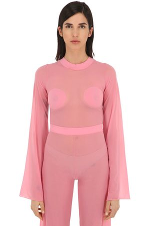 Courrèges Gerbe Sheer Stretch Top