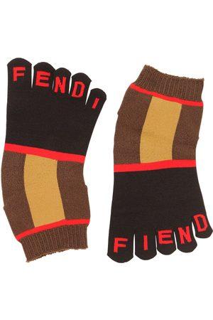 Fendi Logo Intarsia Toe Socks
