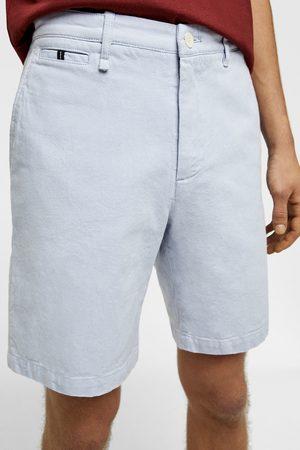 Zara Gestructureerde bermuda met contrast