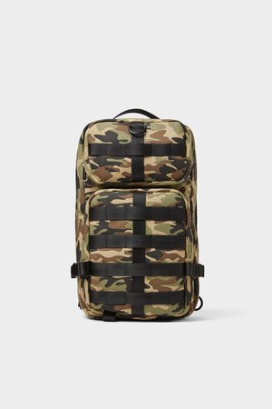 Zara Multi-pocket camouflage crossbody bag