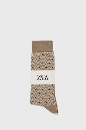 Zara Sokken met jacquard visgraatmotief