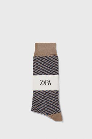 Zara Heren Sokken & kousen - Sokken met jacquard pied-de-poule